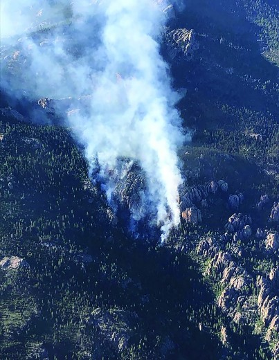 Where's there's smoke — there's fire — in this case, the Black Elk Fire. [Submitted photo/U.S. Forest Service]