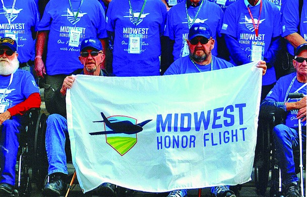 Virgil Kock of Custer, left, along with his brother, Allen, were among those who were selected for the Midwest Honor Flight to Washington, D.C., Oct. 12. Kock is a Vietnam veteran.