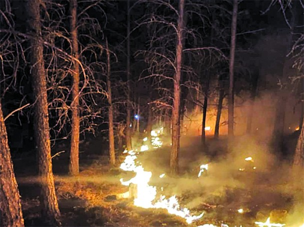 The Calumet Fire broke out near Keystone in the early morning hours of June 8. As of press time the fired had been contained at three to four acres, and no structures were threatened.