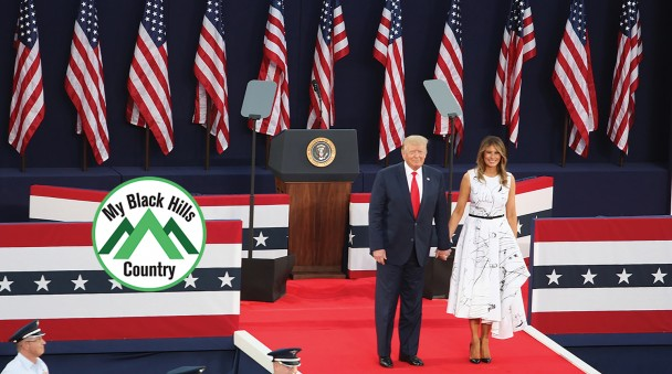 President Donald Trump and First Lady Melania Trump received a warm welcome to Mount Rushmore National Memorial July 3 as part of the Independence Day celebration. The president delivered a speech and then watched fireworks over the memorial.